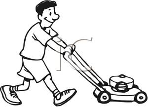 Riding lawn mower clipart fre
