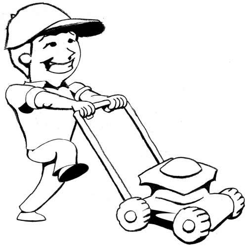 Mowing The Lawn Clipart Best