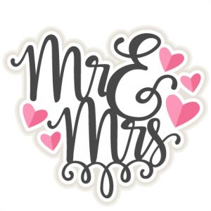 Mr u0026amp; Mrs Title SVG sc - Wedding Clipart
