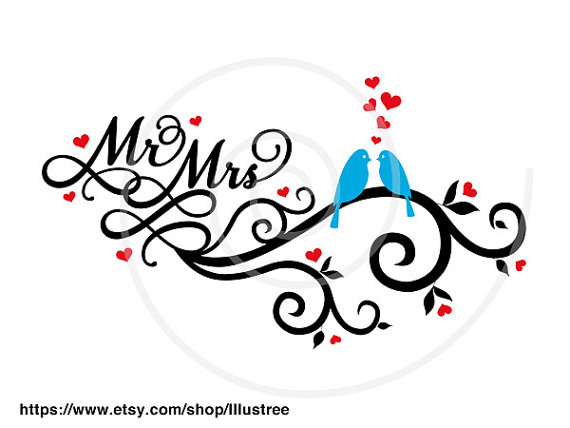 Mr And Mrs Wedding Clipart #1