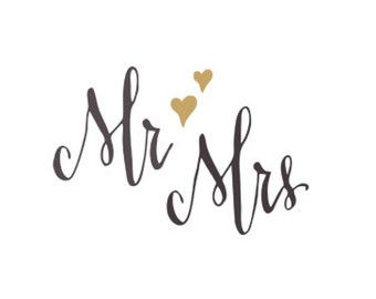 mr mrs svg dxf file instant d - Wedding Clip Art
