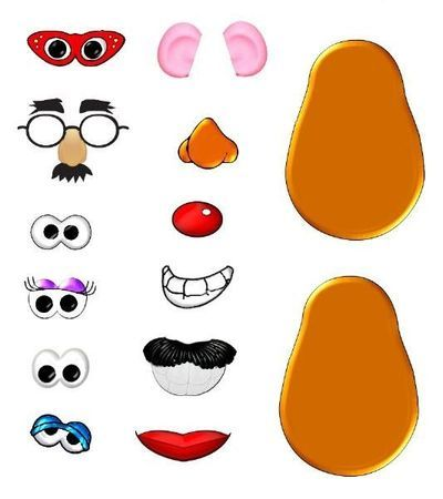 Mr Potato Head Parts Printables Clipart | brico | Pinterest | Potatoes, Potato heads and Crafts