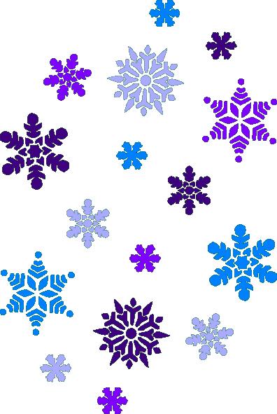 Multi Blue Snowflakes Clip Art At Clker Com Vector Clip Art Online