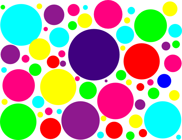 Multi Colored Polka Dots Clip Art At Clker Com Vector Clip Art