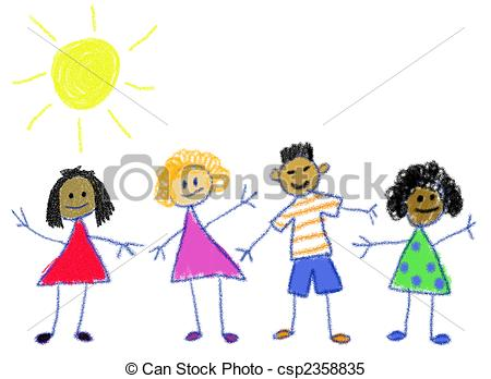... Multicultural Kids - Children in the style of a ...