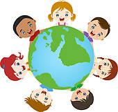 multicultural kids; multicultural group ...