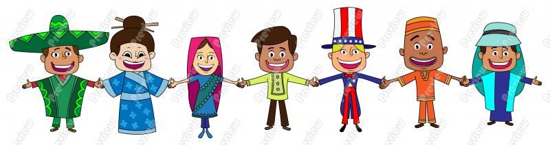 Multicultural People Clipart