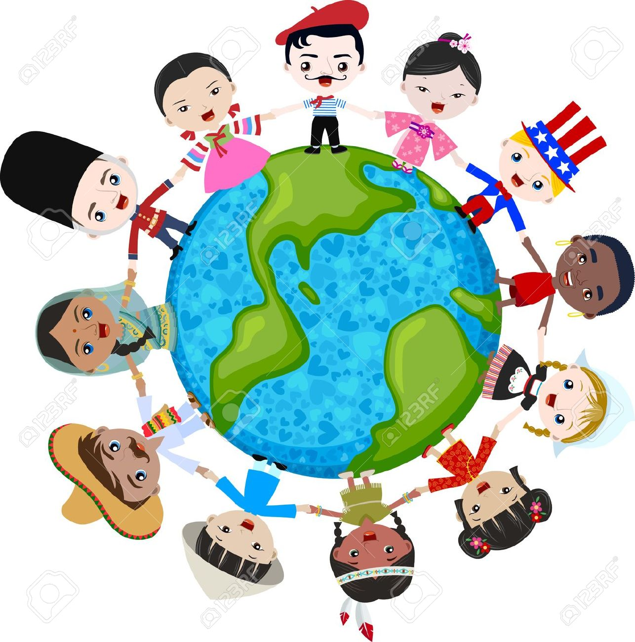 Multicultural World Clipart