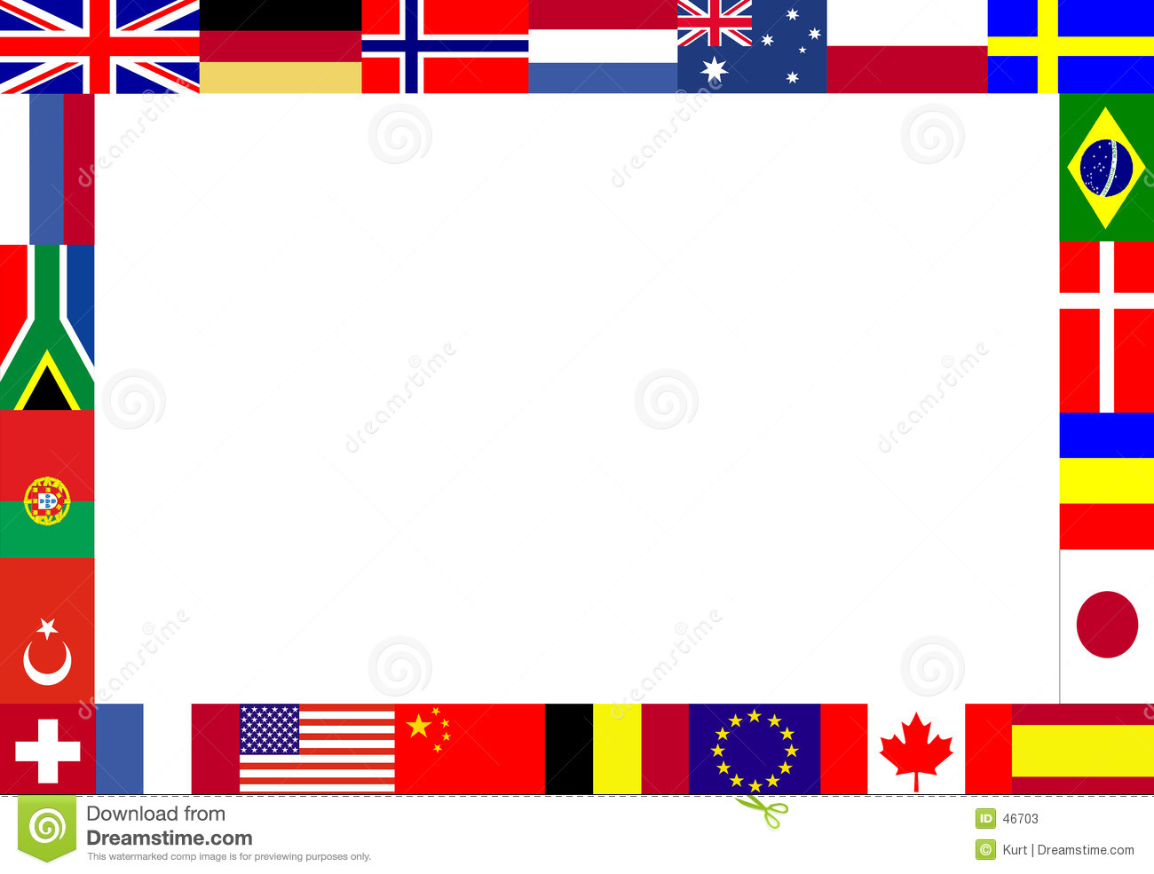 Multiple Flags Frame Stock Photos Image -Multiple Flags Frame Stock Photos Image 46703-3