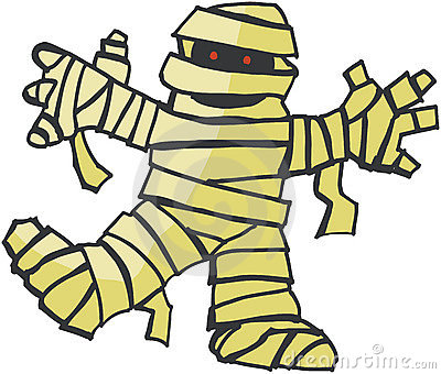 cute halloween mummy clip art
