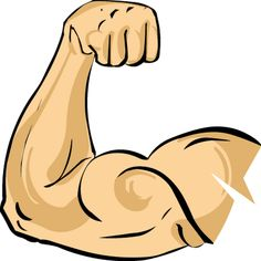 Muscle Arm Clip Art - 6 Pack .