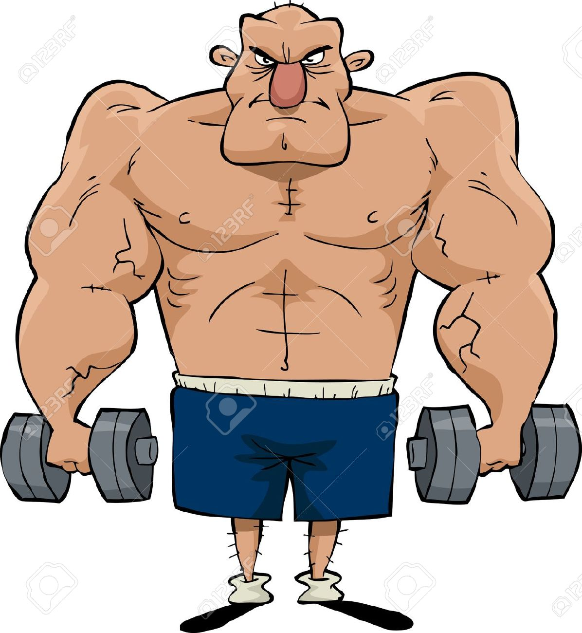 Muscle Clip Art . Muscle Man: Big Man Wi-Muscle Clip Art . muscle man: Big man with .-8