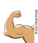 muscle man - illustration .