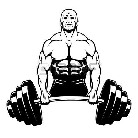 muscle man: Vector muscle man bodybuilder Illustration