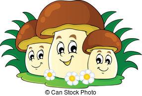 Mushroom Theme Image 7 - Vector Illustra-Mushroom theme image 7 - vector illustration.-13