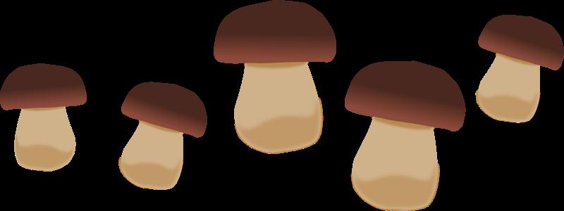 Mushrooms 2 Clip Art. This .