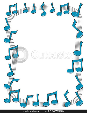 music notes border clipart
