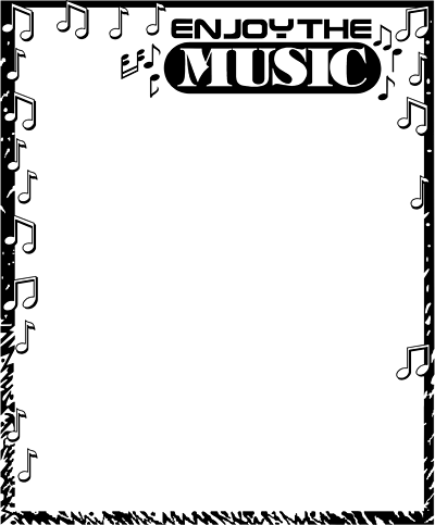 Music Notes Border Clipart-music notes border clipart-7