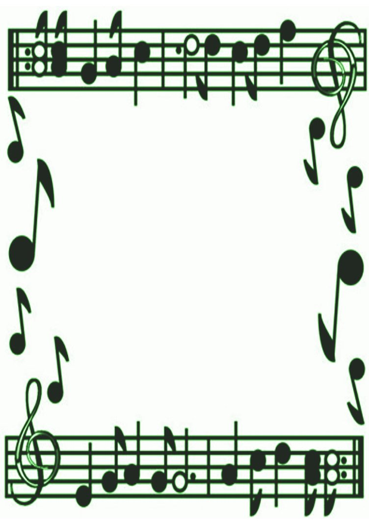 Music Notes Border Clipart-music notes border clipart-8