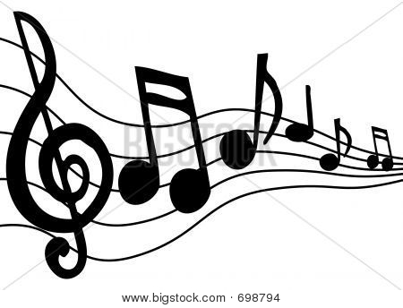 Music Notes On Staff Clipart-music notes on staff clipart-7