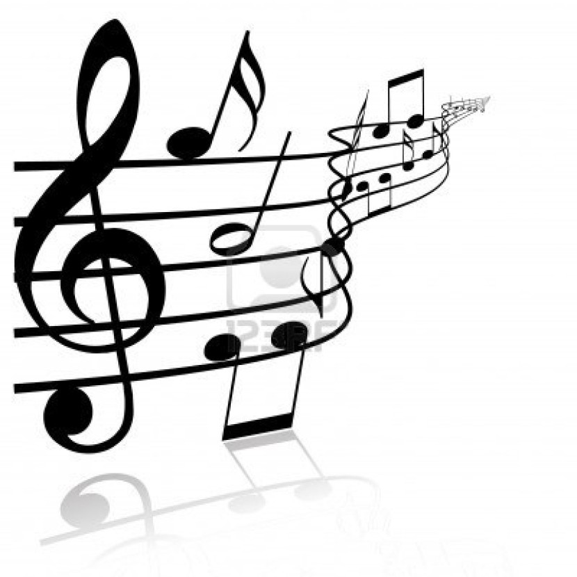 Music Clipart Black And White .-music clipart black and white .-13