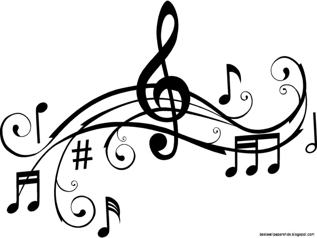 Music Notes Clipart Black And White Clip-Music Notes Clipart Black And White Clipart Panda Free Clipart-17