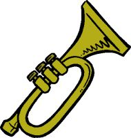 Music Clipart, Trumpet-music clipart, trumpet-3