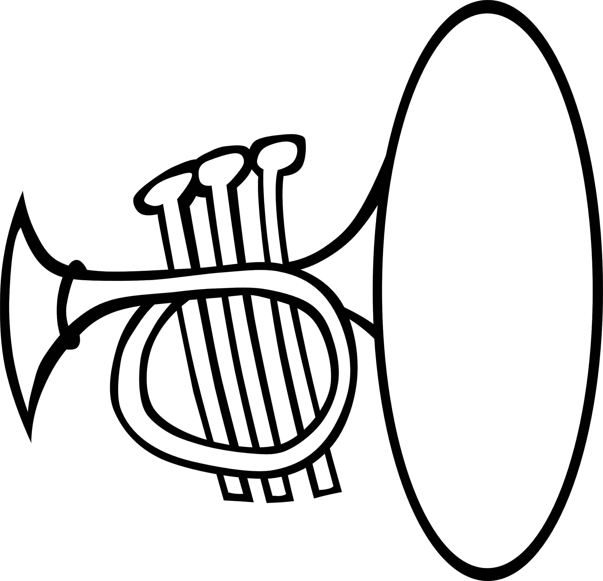 Music Instrument Clipart Black .-Music Instrument Clipart Black .-14