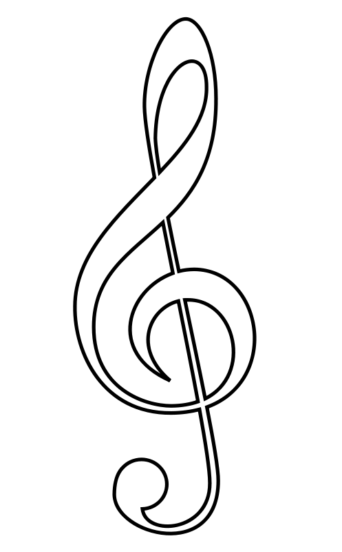 Music notes cartoon musical n