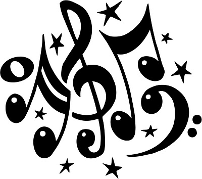 Music Notes, Clip Art And .-Music Notes, Clip Art and .-4
