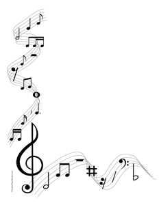 Music Notes Clip Art Borders | Music Note Borders Free Clip Art