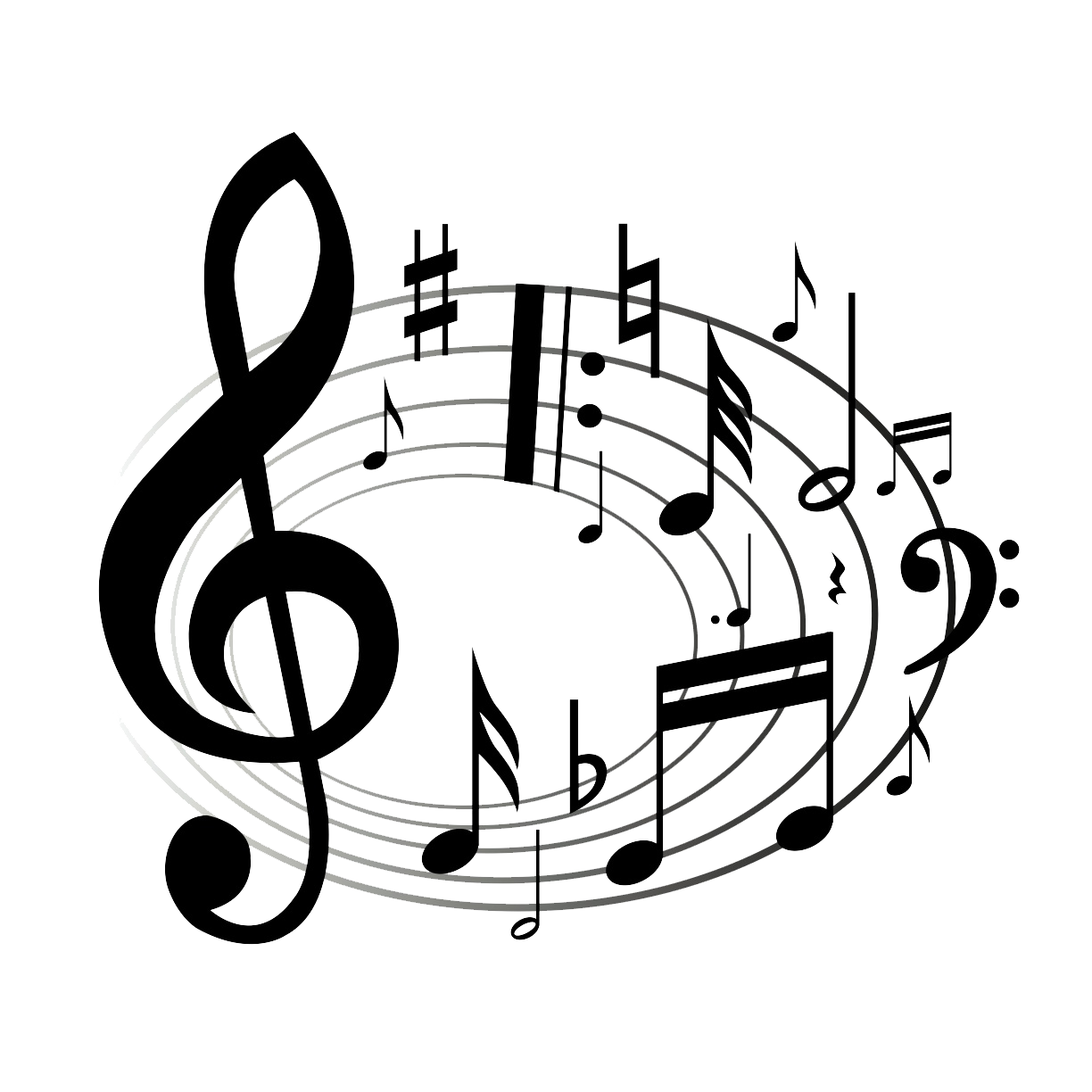 Music notes clipart 2