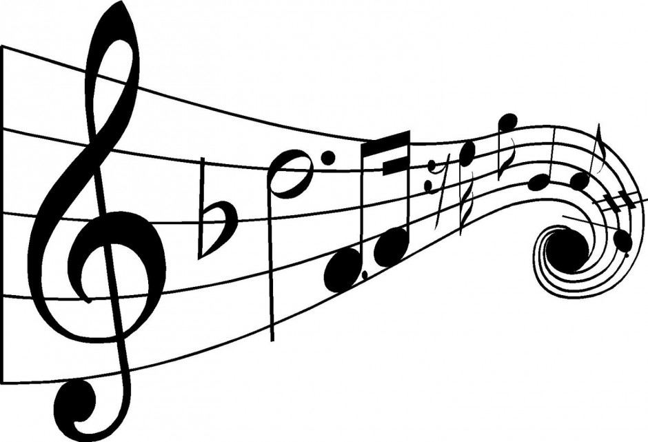 Music notes clipart black and .
