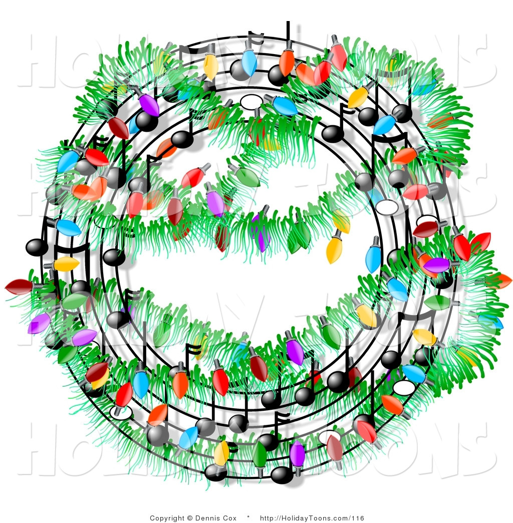 Music Notes Clipart Royalty Free Holiday Clipart Of A Christmas Music