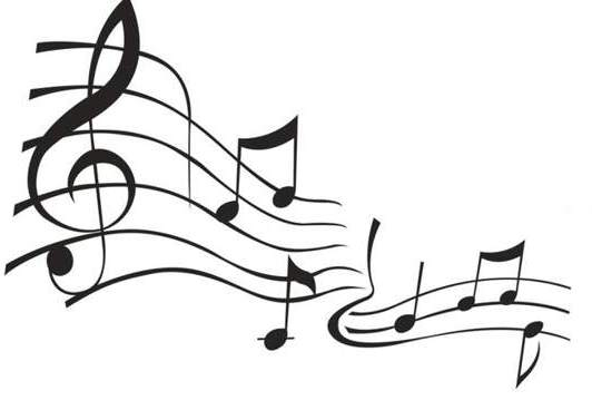 Music Staff Clipart Black And White Clipart Music