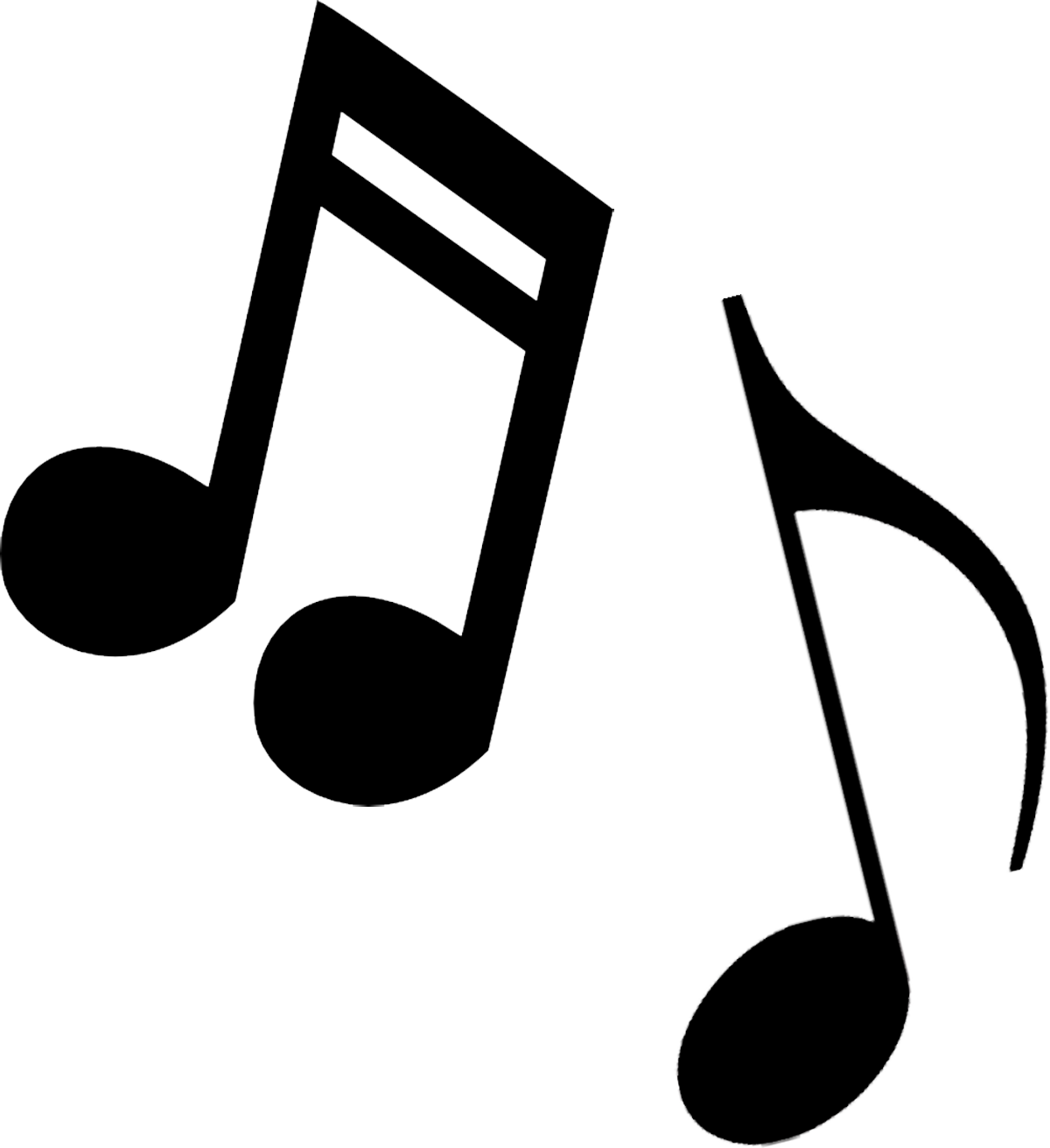 Musical clip art music notes .