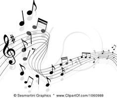 musical clipart free | -Free Vector Clip Art Illustration of a Background Of Staff And
