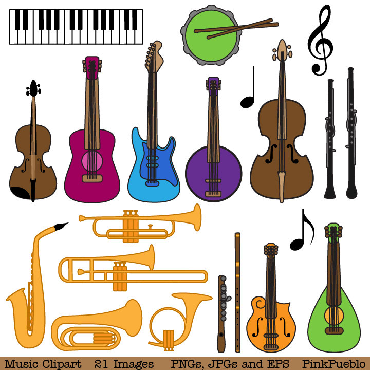 Musical Instrument Clipart Clip Art Musi-Musical Instrument Clipart Clip Art Music Clip Art By Pinkpueblo-12