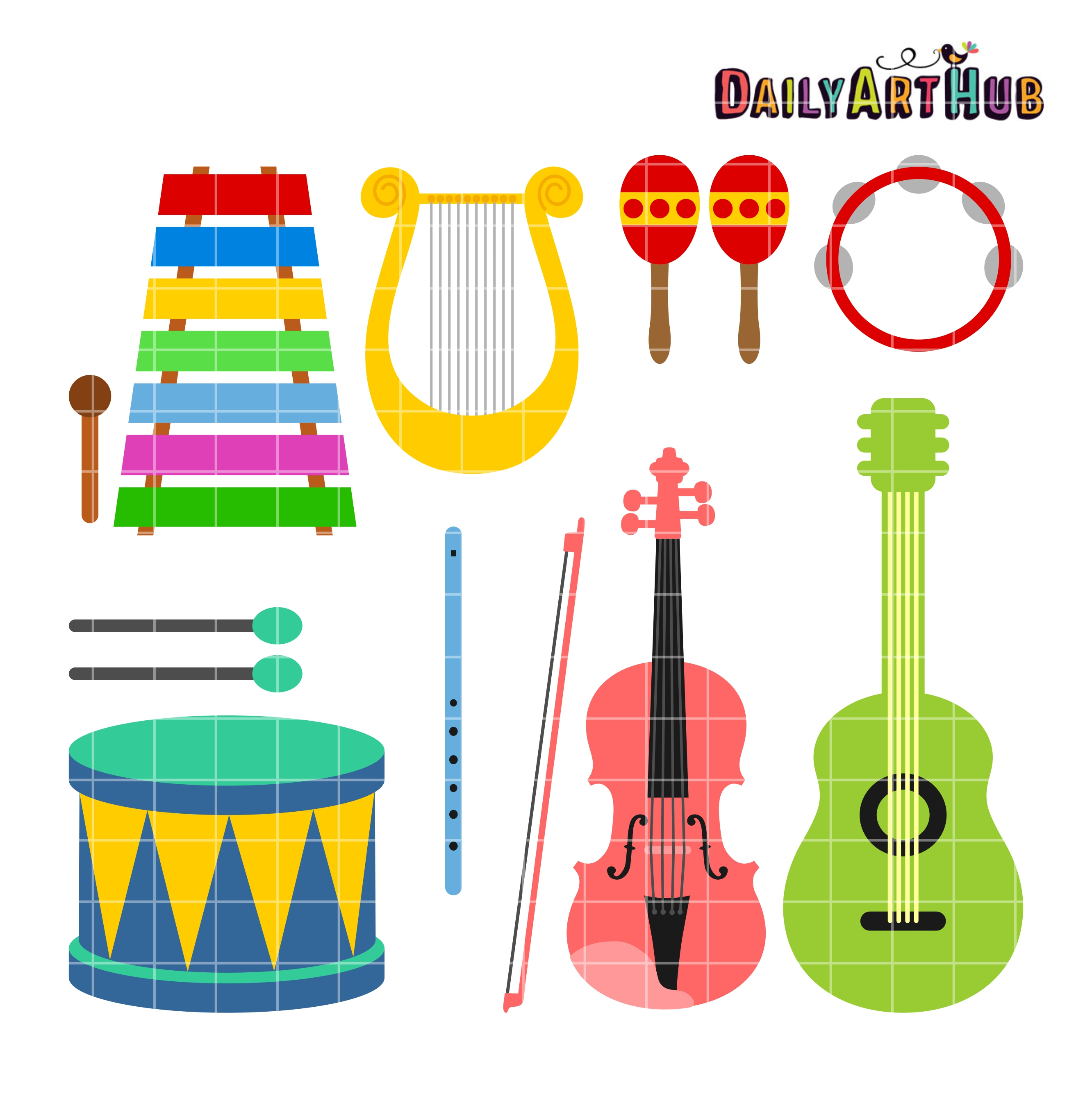 Musical Instruments Clipart Musical Inst-Musical Instruments Clipart Musical Instruments Clip Art 2664 x 2670-15