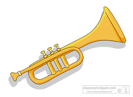 Musical Instruments Music Instruments Tr-Musical Instruments Music Instruments Trumpet Classroom Clipart-6