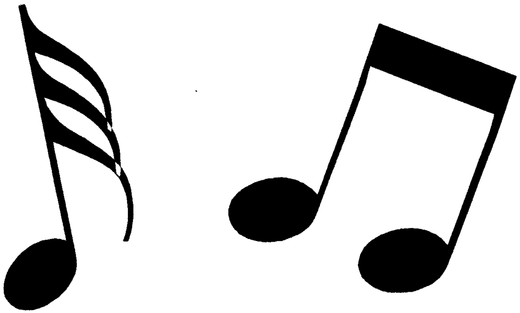 Music Notes Clipart Black And White