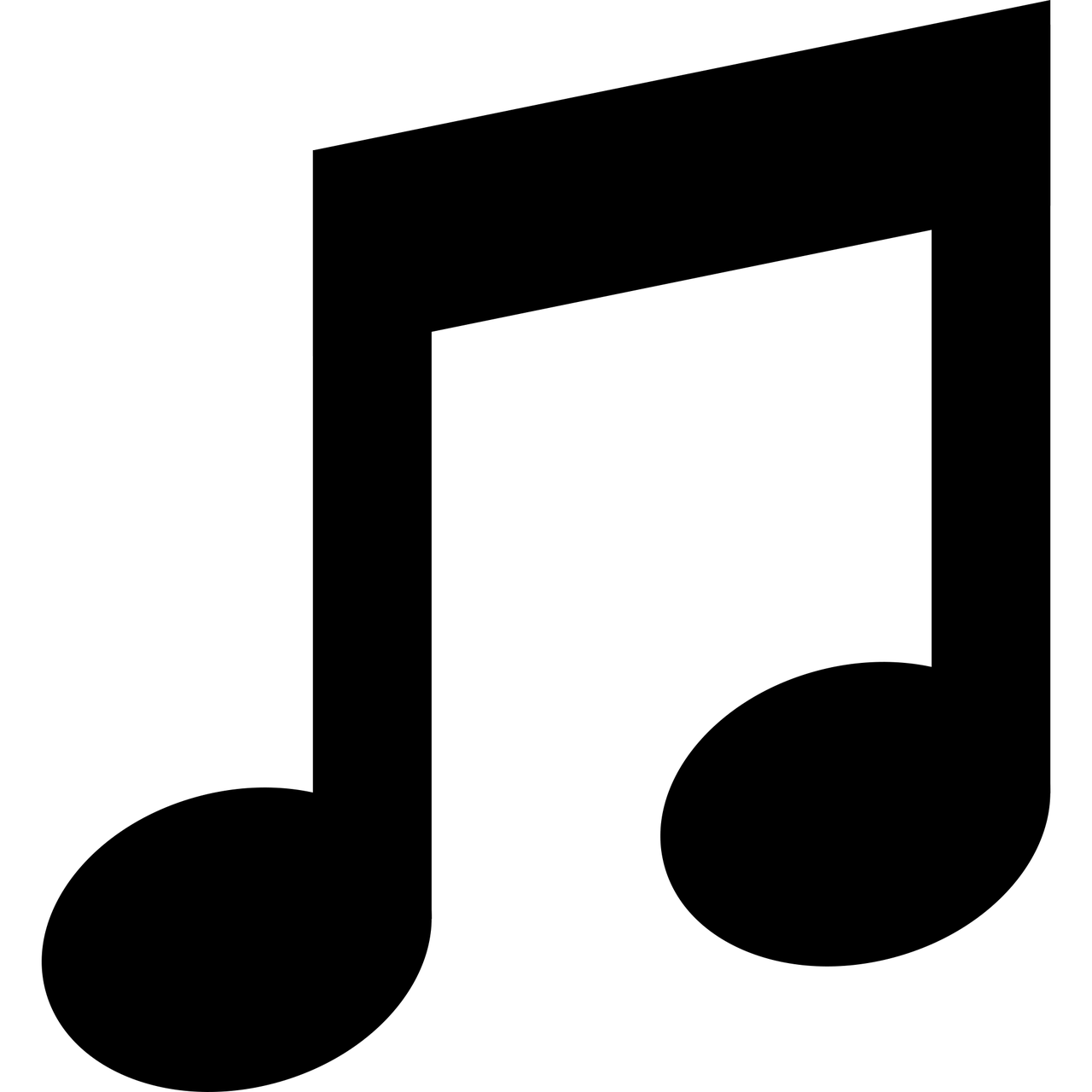 Musical Notes 2 Half Notes Clipart