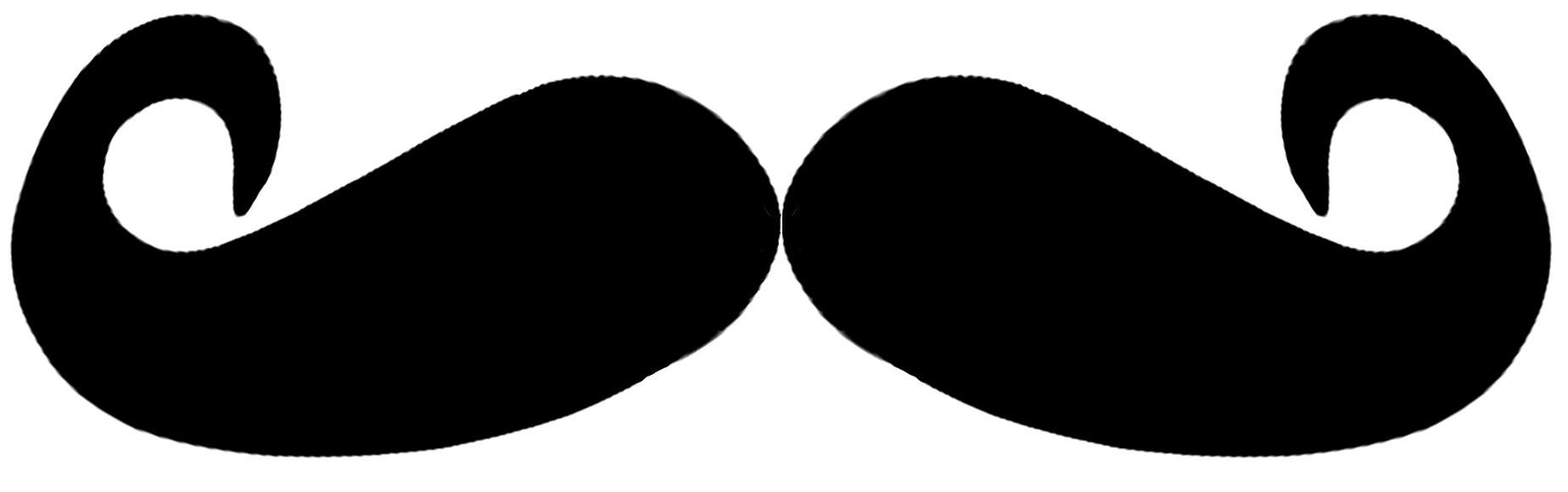 Mustache Clip Art; black .