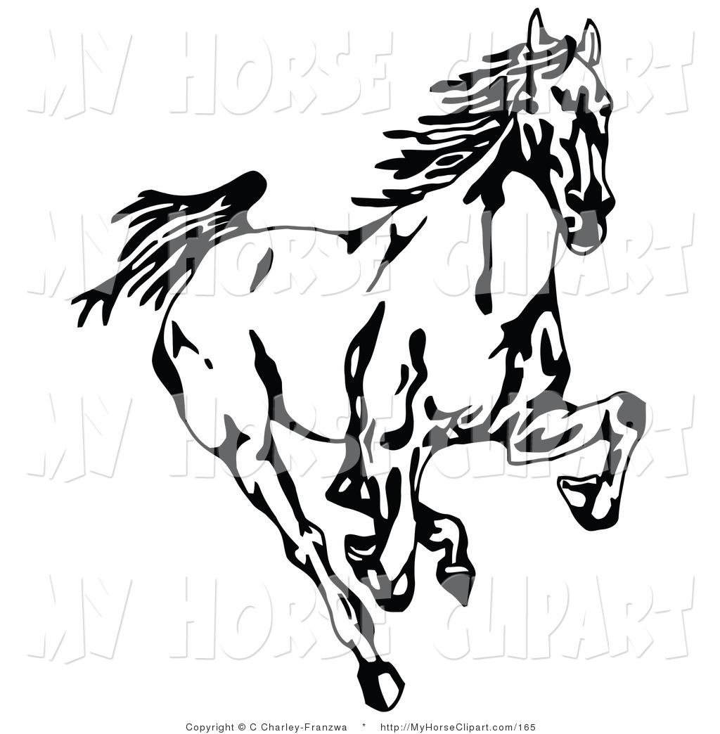 Mustang Clip Art Horse Clipart .