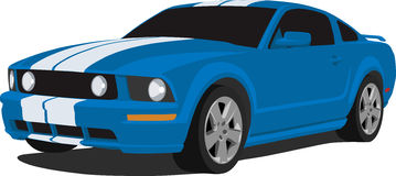 2005 Ford Mustang GT. A Vector illustration of a 2005 Ford Mustang GT  Royalty Free