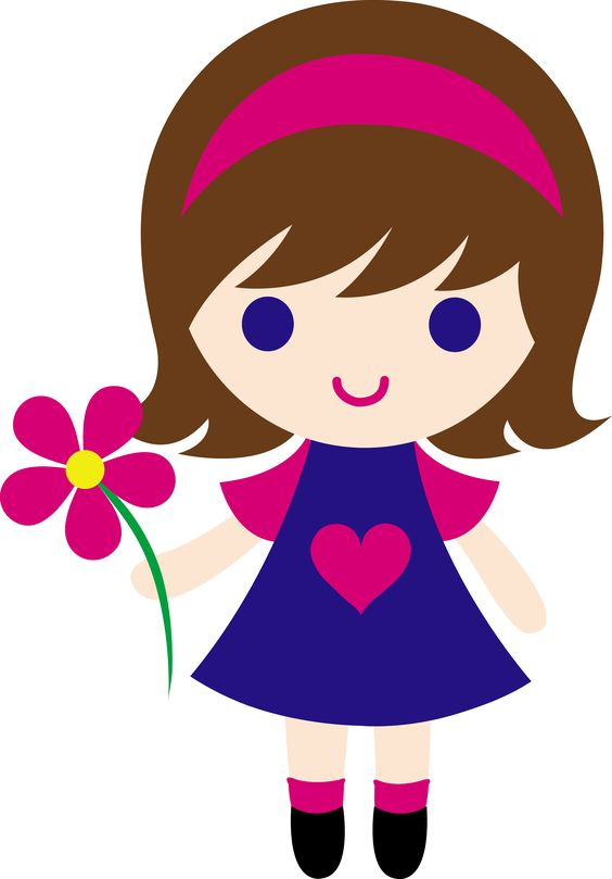 My clip art of a little girl .
