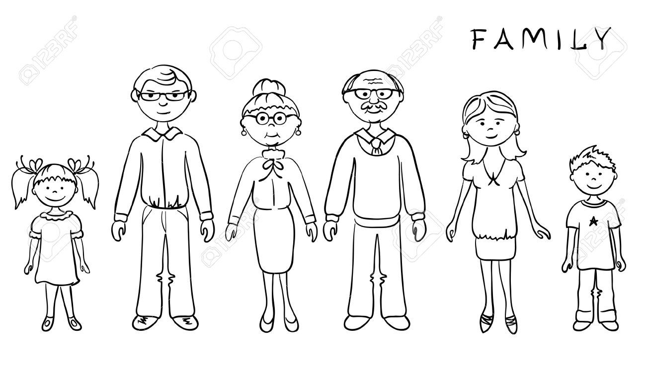 My Family Clipart Black And ..