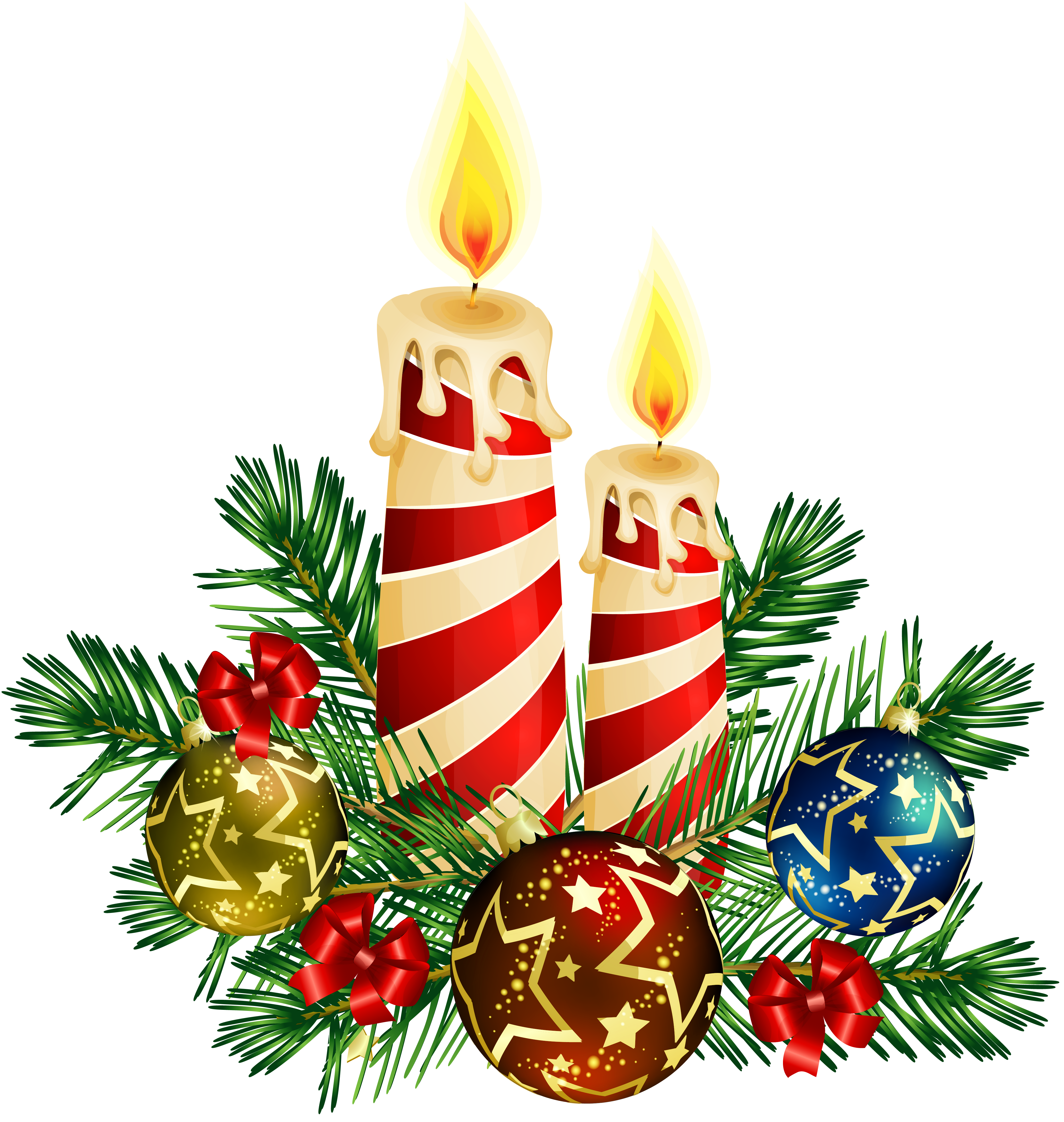 My Favorite Cliparts - Christmas Candle Clipart