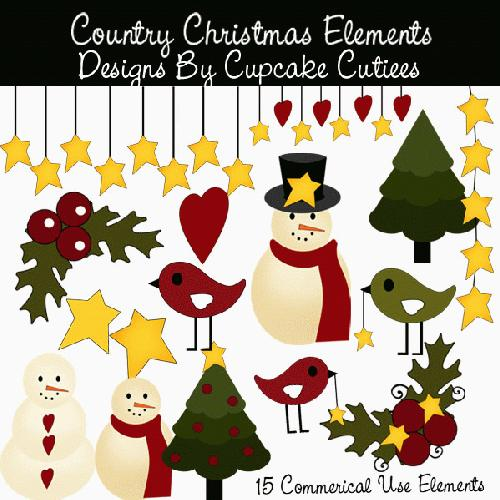 My Grafico Country Christmas Clipart