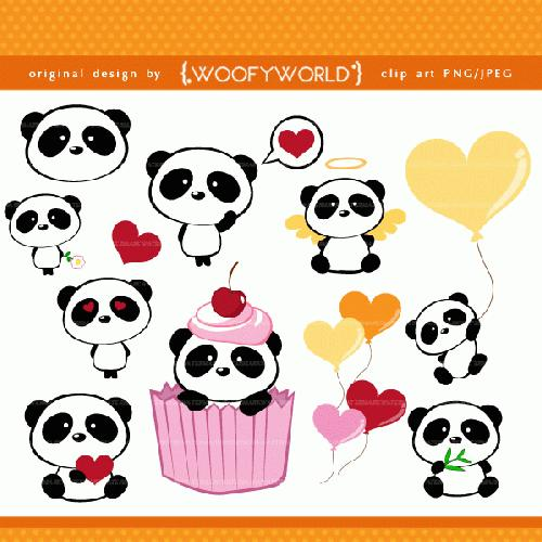 85 Cute Panda Clipart Clipartlook